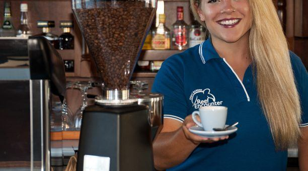 Reef Encounter even has barista style coffee available onboard!